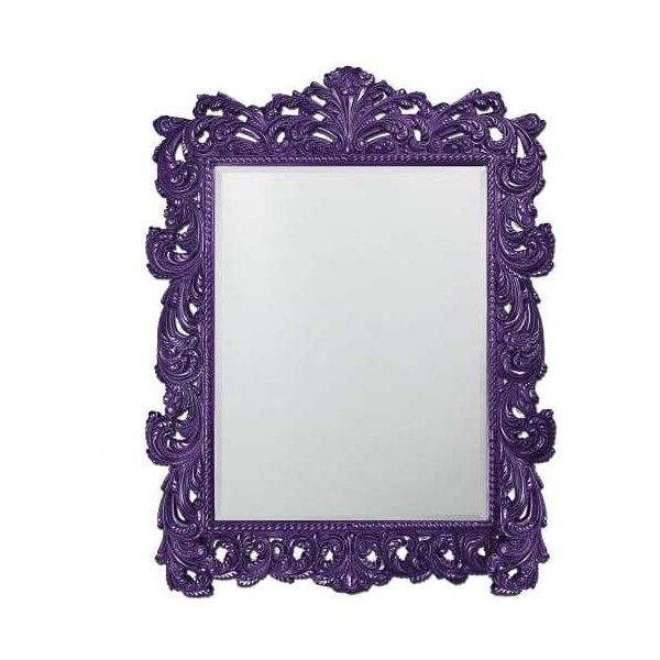"""Howard Elliott 2037XLRP Napoleon 85"""" x 63"""" Oversized Mirror Glossy (€955) ❤ liked on Polyvore featuring home, home decor, mirrors, glossy royal purple, ornate wall mirror, wall mounted mirror, interior wall decor, rectangular mirror and rectangle mirror"""