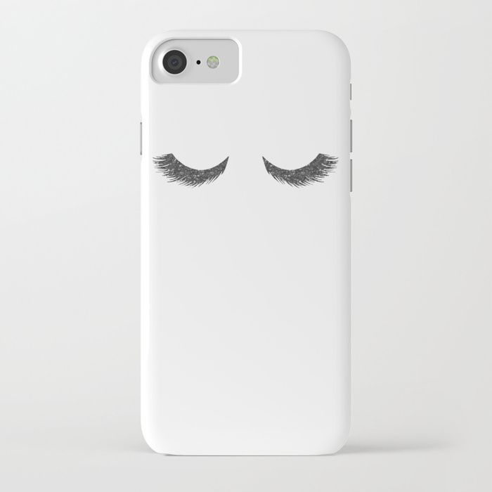 Buy Lashes Black Glitter Mascara iPhone Case by naturemagick. Worldwide shipping available at Society6.com. Just one of millions of high quality products available.