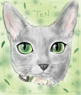 @yochirotan  お待たせしました!今回はリアル系で描かせていただきました( *´ω`* )/ 緑の瞳が綺麗だったもので♪ 少し前のてんちゃんかな?(´∀`) ハロウィン仕様は  まだ描いている途中なので明日アップいたします((。´・ω・)。´_ _))ペコリ