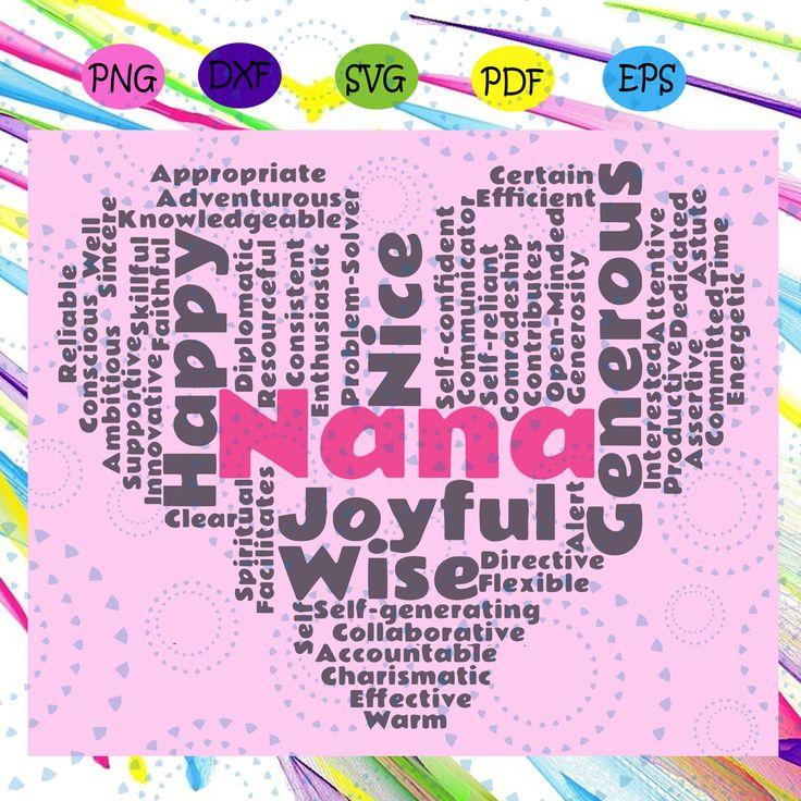 Nana SVG word cloud, nana life svg, nana gift svg, gifts