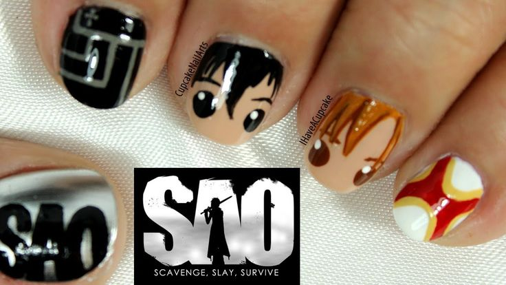 The Cutest Sword Art Online Anime Nail Art That You Need in Your Life NOW!