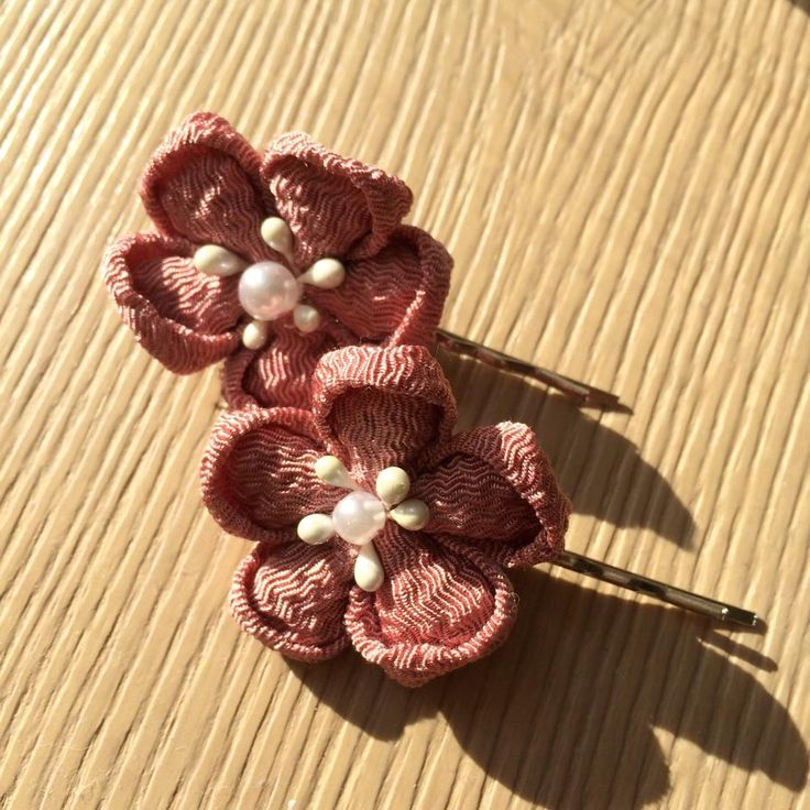 Japanese style flower clips