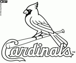 Logo of Saint Louis Cardinals coloring page