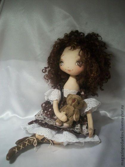 Collectible handmade dolls.  Fair Masters - handmade doll interior Chocolate.  Handmade.