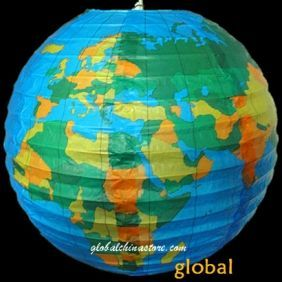 "12"" Globe patterned paper lantern"