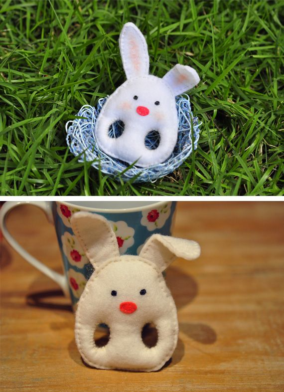 Finger bunny in Crafts for babies and kids