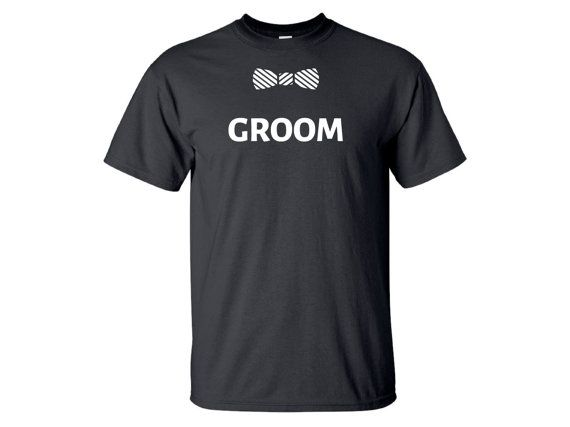 5 Bachelor Party T-Shirts (1 Groom, 1 Best Man, and 3 Groomsman) - Need more or less Groomsman Shirts. Message me to adjust pricing.