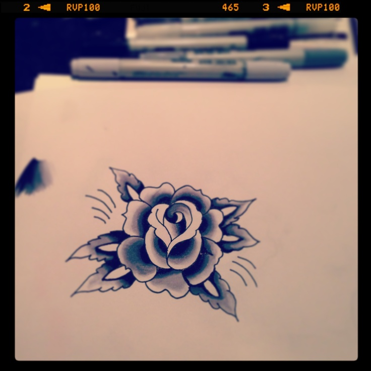 Tattoo inspired rose