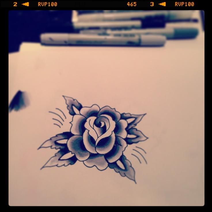 Tattoo inspired rose