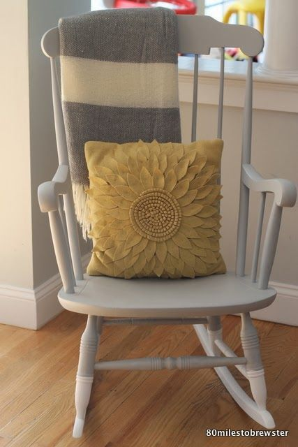 80 miles to brewster rocking chair makeover paint dipped diy: