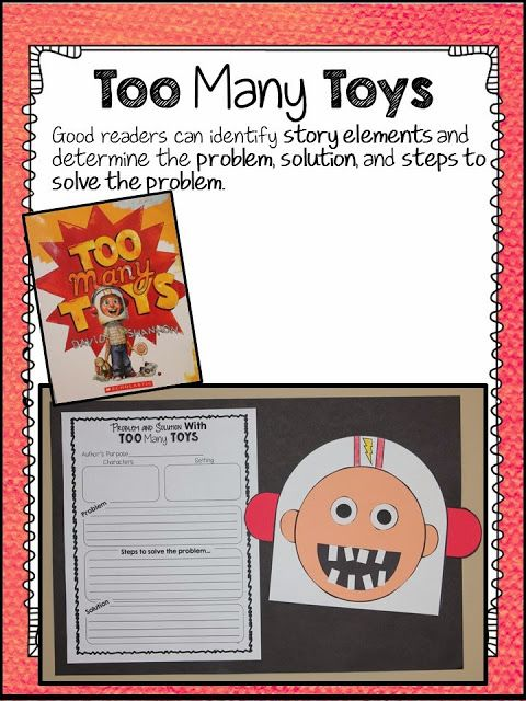 David Shannon Author Study - Too Many Toys