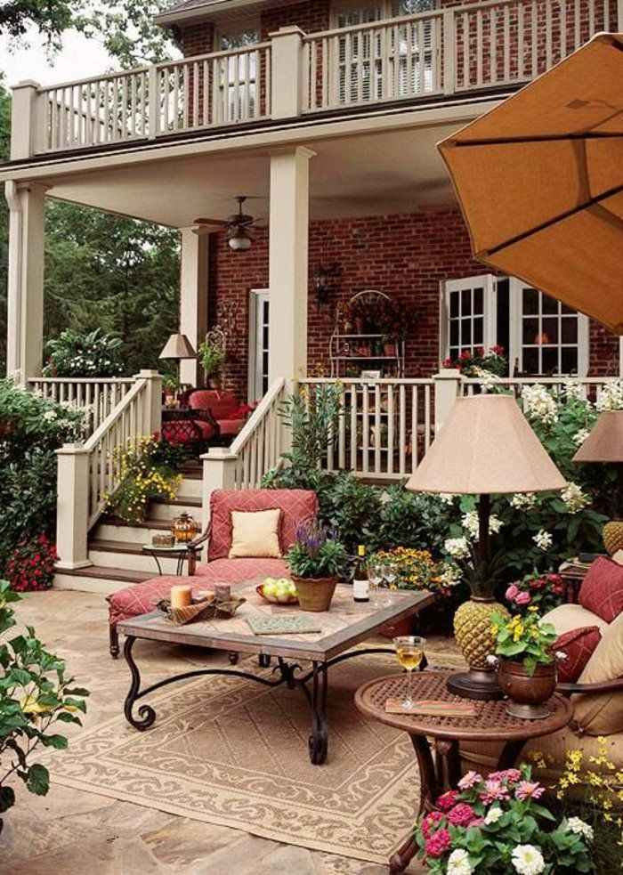 122 best Idées jardin images on Pinterest Backyard plants, Balcony - amenagement exterieur pas cher