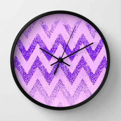 disappearing purple chevron Wall Clock