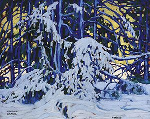 """Winter"" by Lawren Harris.   group of Seven."