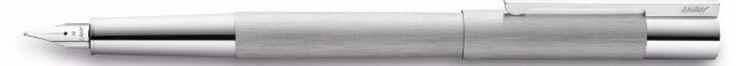 Lamy Scala Stainless Steel Fountain Pen   Chrome Trim   1328071  Fine Nib #Lamy