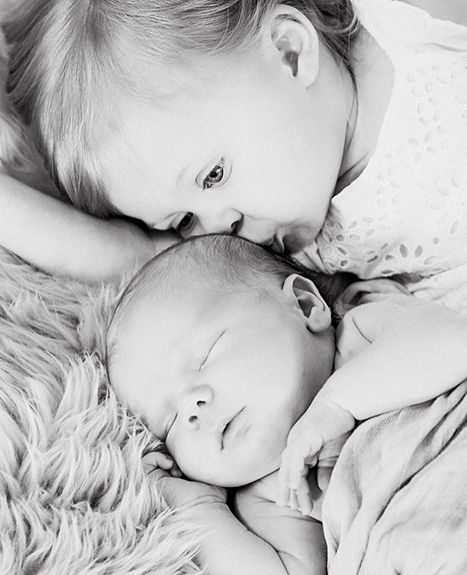 Beverley Mitchell's second child, son Hutton Michael Cameron, was born on Jan. 28, the 7th Heaven alum's rep confirmed to Us Weekly. Here, the tot poses with big sister Kenzie.