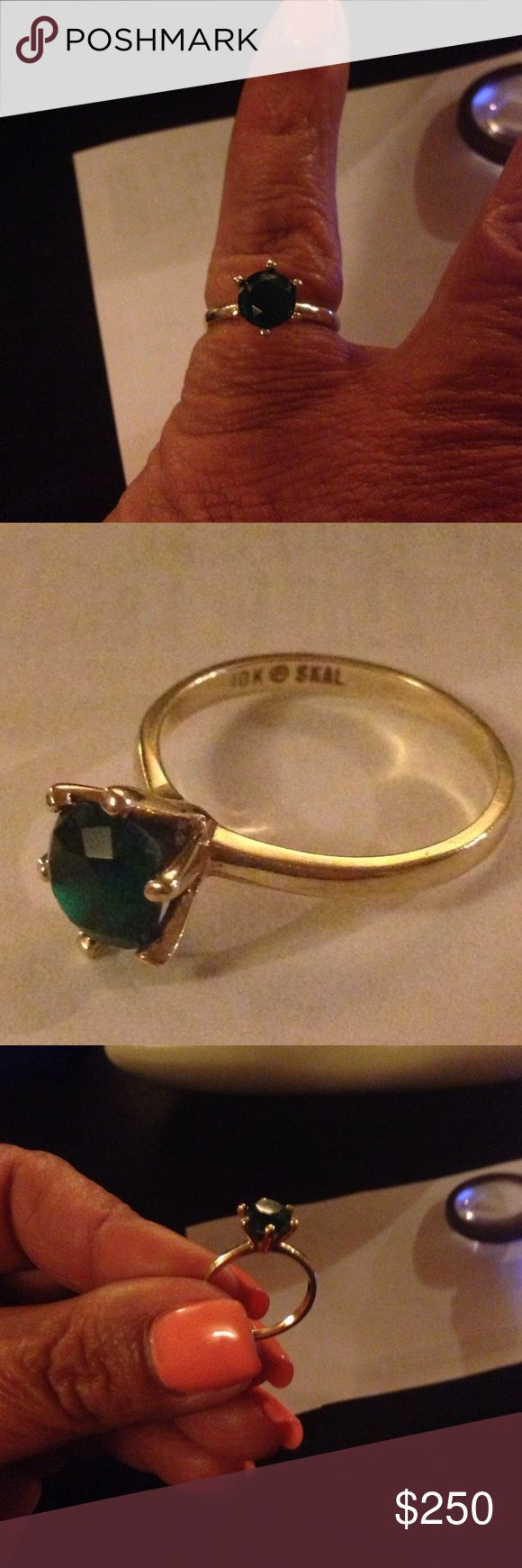 10K plum solid gold emerald ring 10K solid gold SKAL= designer Hubertus Von Skalet vintage emerald ring size 7. Priceless to our family as it is an heirloom and birthstone of my youngest daughter who was to inherit this however we came up short on tuition for her final year of college and her education is also priceless. She will be the first in our family to complete a higher education degree as a BSN in nursing. Please consider when making offers. Thank you in advance. Jewelry Rings