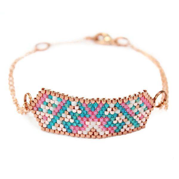 """Bracelet ethnique chic """"Hexa Cuivre"""" : Bracelet par amy-jewels"""