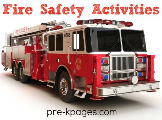 Fire Safety Activities for Pre-K and Preschool. Fire engines, firefighters, smoke detectors and more! Math, literacy, art, book lists and more to make learning fun!