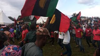 Anambra 2017: war looms as IPOB disrupts burial ceremony    By Okechukwu Onuegbu  Ihiala community in Ihiala Local Government Area of Anambra State were on weekend threw into shock as over one hundred youths suspected to be members of the Indigenous People of Biafra (IPOB) stormed the burial ceremony venue of late Pa Francis Oguanobi chanting There will be no election in Anambra. Anambra is Biafra land.  Late Pa Ogunanobi who died at the age of 90 is the father of Mrs Nneka Ezeemo wife of Mr…