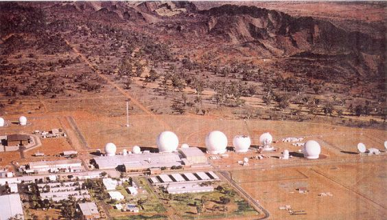 US Pine Gap Australia Base:The location is strategically significant because it controls America's spy satellites as they pass over the third of the globe which includes China, parts of Russia, and Middle East oil fields. Central Australia was chosen because it was too remote for spy ships passing in international waters to intercept the signal.