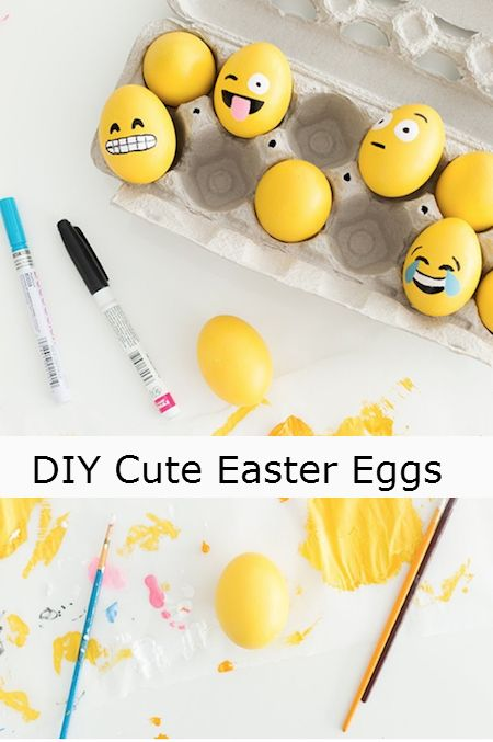 DIY Cute Easter Eggs