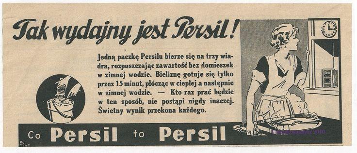 Reklama prasowa Persila z prasy ilustrowanej (lata 30.)    #ads #advertising #advertisement #ad