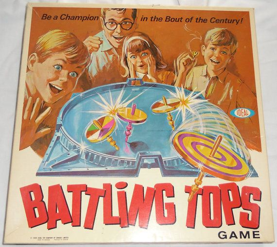 We had Battling Tops growing up! What fun! The tops sounded like little race cars...