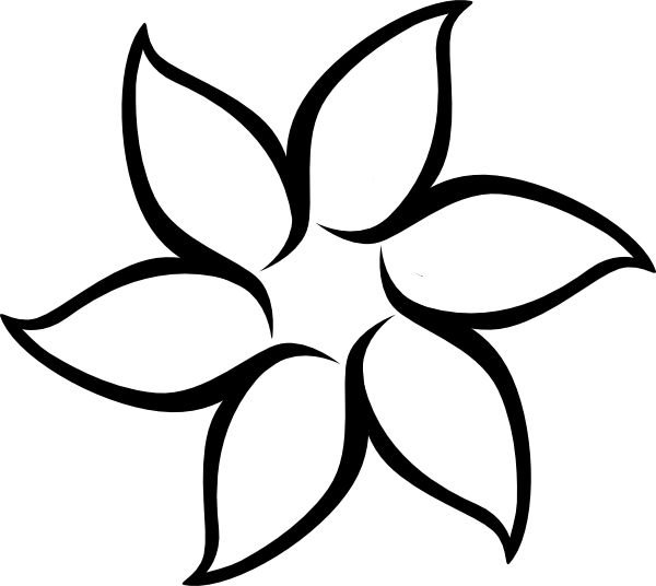 Outline Drawing Flower Coloring Pages And Of Flowers