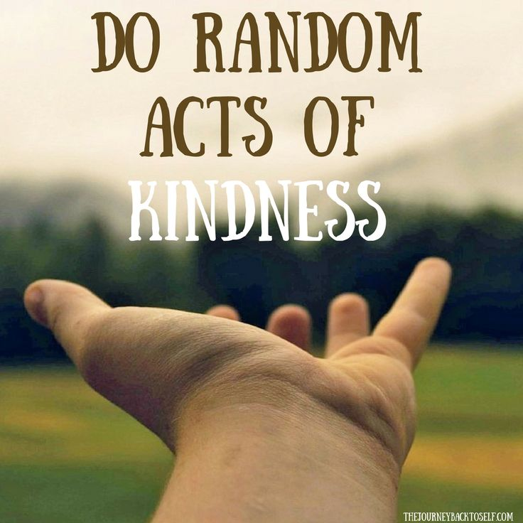 Do random acts of kindness. Be genuinely interested in helping other people and connect with them. Visit: http://www.thejourneybacktoself.com