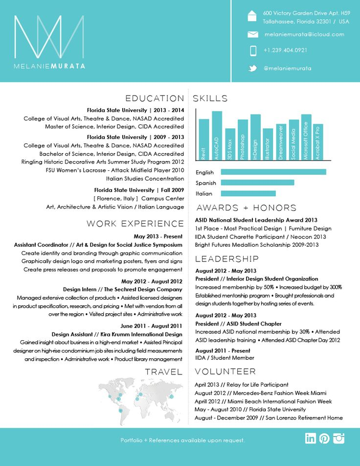 Best 25+ Cool resumes ideas on Pinterest Graphic designer resume - cool resume ideas