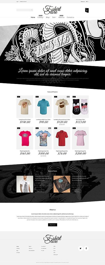 T-Shirt Online Store #Shopify #template. #themes #business #responsive #webshop