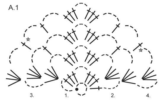 """Scialle DROPS lavorato all'uncinetto con motivo traforato in """"Brushed Alpaca Silk"""". ~ DROPS Design"""