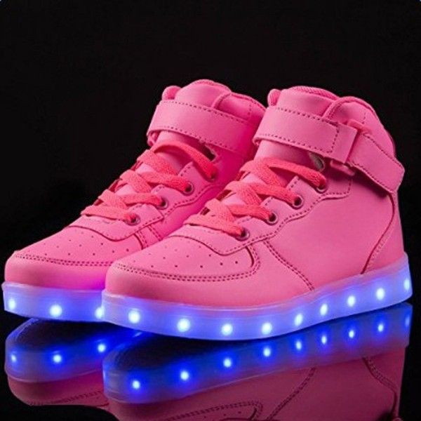 SAGUARO(TM)Unisex Boys Girls Womens Mens High Top Light Up Shoes LED... ($14) ❤ liked on Polyvore featuring men's fashion, men's shoes, men's sneakers, mens hi tops, mens wide shoes, mens high top shoes, mens hi top shoes and mens high tops