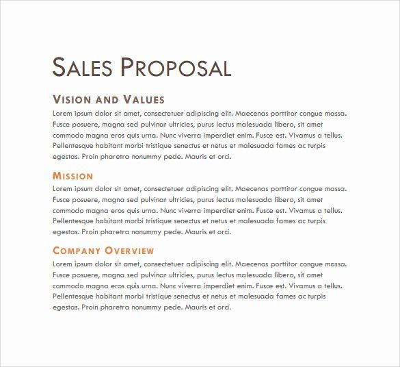 Free Sales Proposal Template In 2020 Sales Proposal Proposal