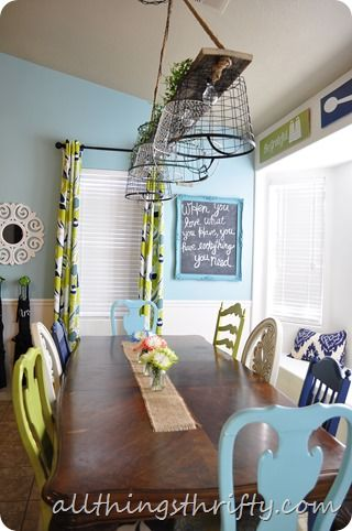 Blue Kitchen {Let The Transformation Begin!} Basket LightingWall ColorsColor  ...