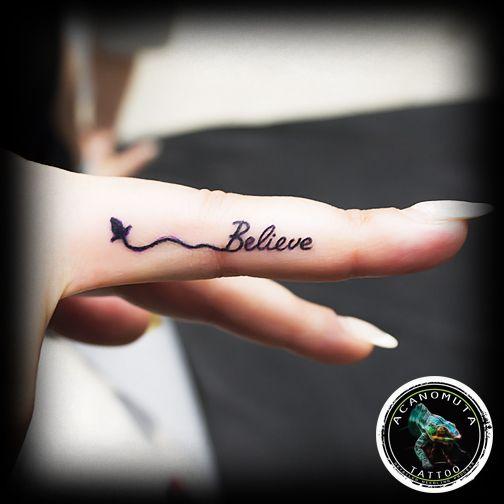 Believe yourself.. ink your finger now μονο στο Acanomuta tattoo studio