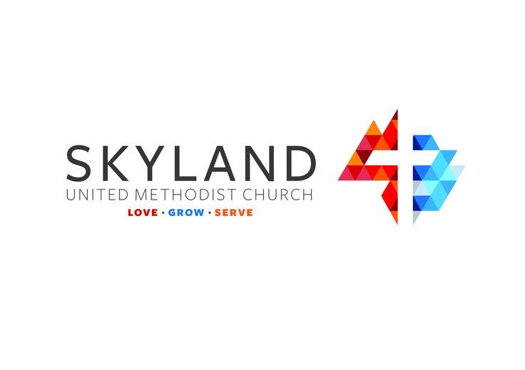 Skyland United Methodist Church//Asheville,NC logo, branding, non-profit, church logo