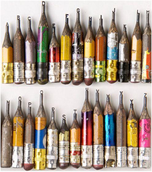 so kewl!Miniatures, Artists, Sculpture, Pencil Carvings, Alphabet, Dalton Ghettos, Letters, Pencilart, Pencil Art