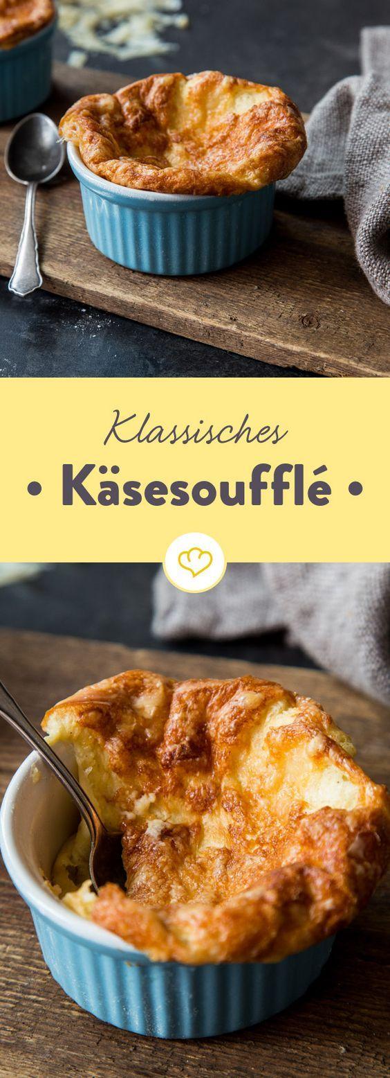 Original französisch und unglaublich lecker: Mit diesem Rezept gibt es Käsesoufflé bald öfter bei dir. Nur echt mit knuspriger Haube!
