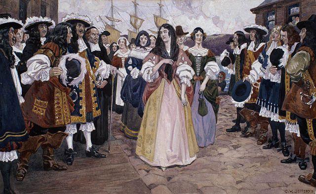 The French girls arrive in Québec, 1667 / L'arrivée des jeunes filles françaises à Québec, 1667 | by BiblioArchives / LibraryArchives