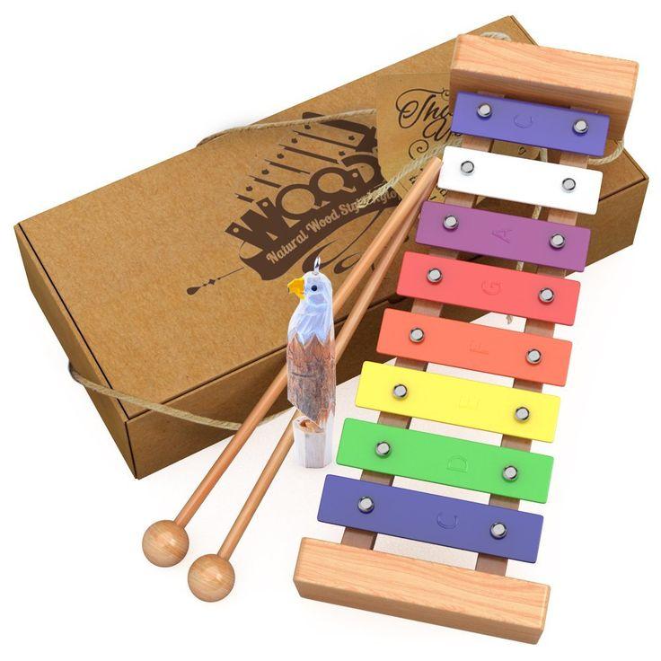 aGreatLife Hölzernes Xylophon für Kinder: Perfekt für kleine Musiker – Erzeugen Sie magische Klänge mit kleinen Händen; Ein Schlaginstrument mit bunten Metalltasten und zwei kindersicheren hölzernen Schlägeln: Amazon.de: Spielzeug