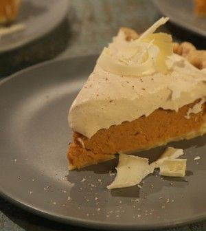CARLA HALL Sweet Potato Pie with White Chocolate Mousse - Chew Recipes
