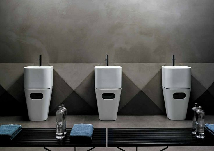 Tandem. Wall-hung Washbasin and Laundry Basket   Azzurra Ceramica S.p.A.