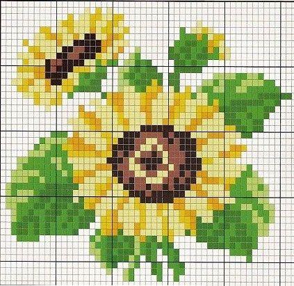 Sunflower perler bead pattern