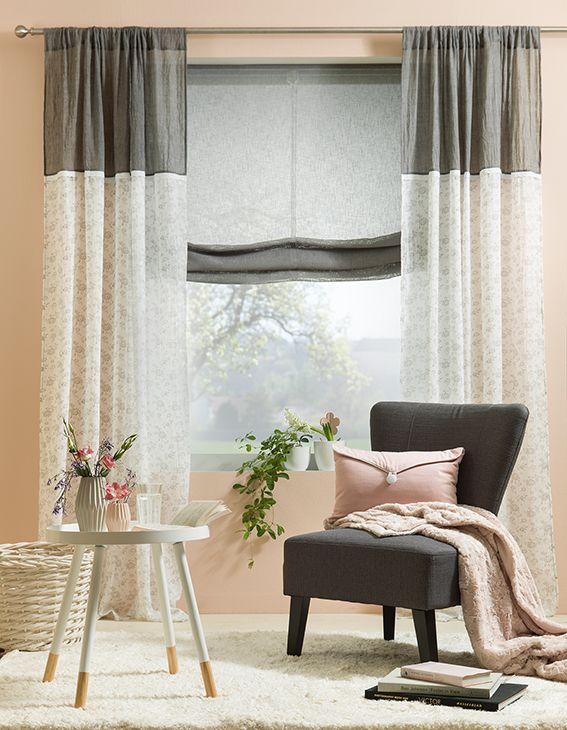 1000 bilder zu gardinen auf pinterest raffrollos stoffe und rollos. Black Bedroom Furniture Sets. Home Design Ideas
