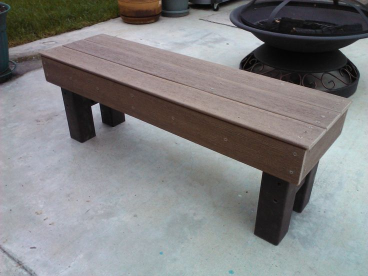 Built A Solid Bench From Leftover Pieces Of Composite