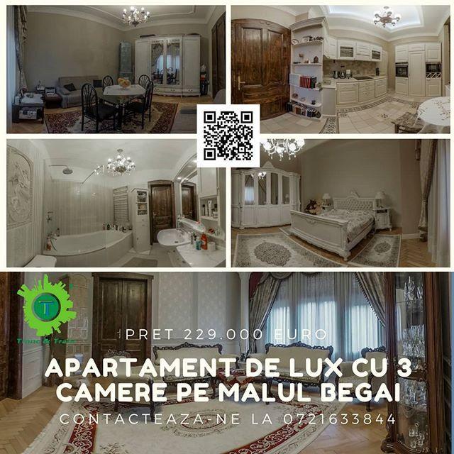 #TrancAndTranc va propune o noua proprietate careia sa ii spuneti cu drag #acasa un apartament cu 3 camere renovat si mobilst de lux. Apartamentul se afla in Timisoara pe Malul Begai intr-o zona linisitita  Apartament de lux / Malul Begai / Timisoara / zona linistita / 2 dormitoare / bucatarie / 1 living room spatios / 1 baie / centrala termica performanta / aer conditionat / mobilat de lux / renovat de lux  #360view #realestate #imobile #imobiliare #imobiliarearad #imobiledelux…