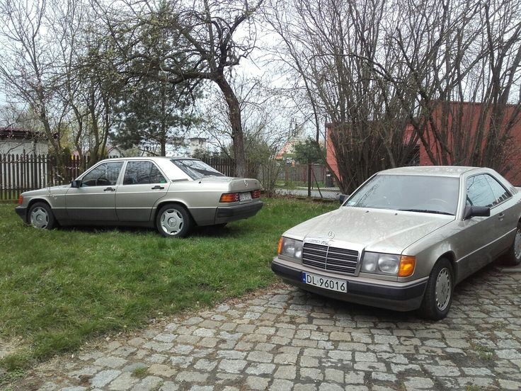 Twice Benz in same smoke Silver colour. C124&W201