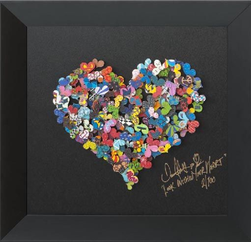 Look within your heart (33/100) (Carton) par David Kracov, artiste présentement exposé aux Galeries Beauchamp. www.galeriebeauchamp.com